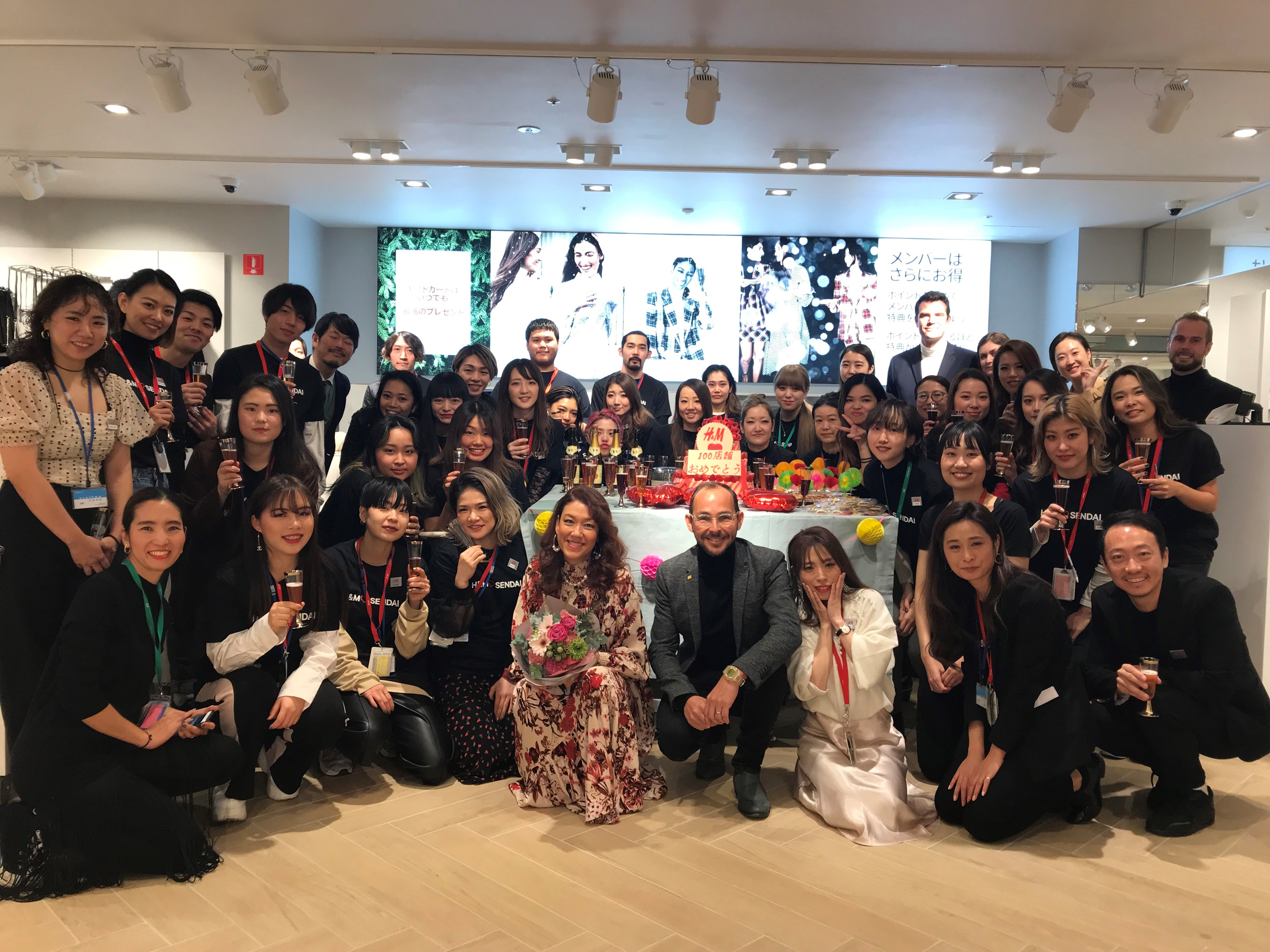 H&M Japan opened its 100th store in Sendai